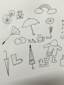 Rain illustrations